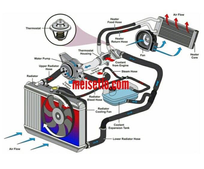 15 Bagian Bagian Komponen Radiator Mobil Lengkap Beserta Fungsi Dan Gambarnya